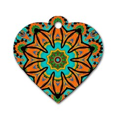 Color Abstract Pattern Structure Dog Tag Heart (one Side)