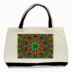 Color Abstract Pattern Structure Basic Tote Bag (two Sides)