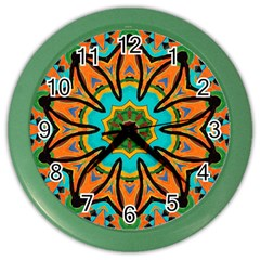 Color Abstract Pattern Structure Color Wall Clocks