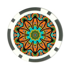Color Abstract Pattern Structure Poker Chip Card Guards