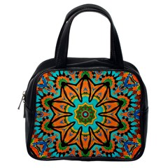 Color Abstract Pattern Structure Classic Handbags (one Side)