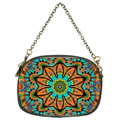 Color Abstract Pattern Structure Chain Purses (two Sides)