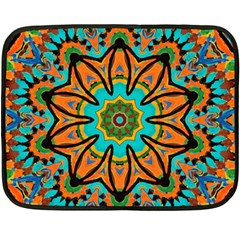 Color Abstract Pattern Structure Double Sided Fleece Blanket (mini)