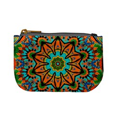 Color Abstract Pattern Structure Mini Coin Purses