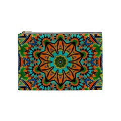 Color Abstract Pattern Structure Cosmetic Bag (medium)