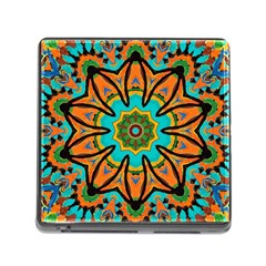 Color Abstract Pattern Structure Memory Card Reader (square)