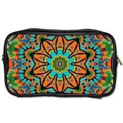 Color Abstract Pattern Structure Toiletries Bags 2 Side