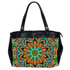 Color Abstract Pattern Structure Office Handbags (2 Sides)