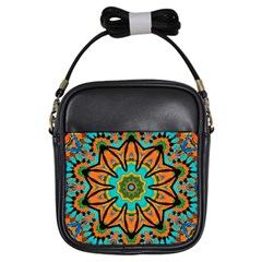 Color Abstract Pattern Structure Girls Sling Bags