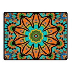 Color Abstract Pattern Structure Fleece Blanket (small)
