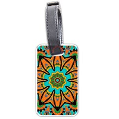Color Abstract Pattern Structure Luggage Tags (one Side)