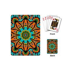 Color Abstract Pattern Structure Playing Cards (mini)