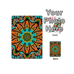 Color Abstract Pattern Structure Playing Cards 54 (mini)