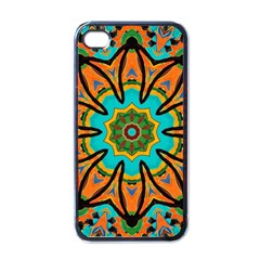 Color Abstract Pattern Structure Apple Iphone 4 Case (black)