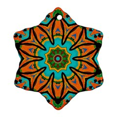 Color Abstract Pattern Structure Snowflake Ornament (2 Side)