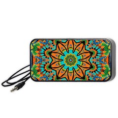 Color Abstract Pattern Structure Portable Speaker (black)