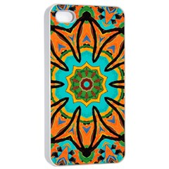 Color Abstract Pattern Structure Apple Iphone 4/4s Seamless Case (white)