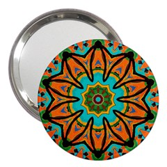 Color Abstract Pattern Structure 3  Handbag Mirrors