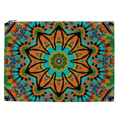 Color Abstract Pattern Structure Cosmetic Bag (xxl)