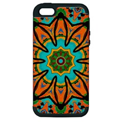 Color Abstract Pattern Structure Apple Iphone 5 Hardshell Case (pc+silicone)