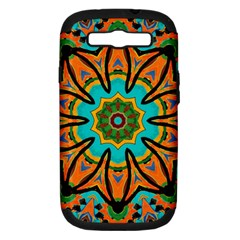 Color Abstract Pattern Structure Samsung Galaxy S Iii Hardshell Case (pc+silicone)