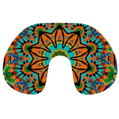 Color Abstract Pattern Structure Travel Neck Pillows