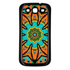 Color Abstract Pattern Structure Samsung Galaxy S3 Back Case (black)