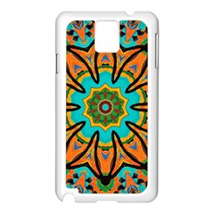 Color Abstract Pattern Structure Samsung Galaxy Note 3 N9005 Case (white)