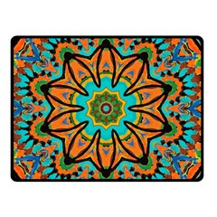 Color Abstract Pattern Structure Double Sided Fleece Blanket (small)