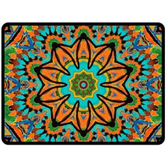 Color Abstract Pattern Structure Double Sided Fleece Blanket (large)