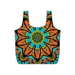 Color Abstract Pattern Structure Full Print Recycle Bags (s)