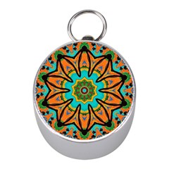 Color Abstract Pattern Structure Mini Silver Compasses