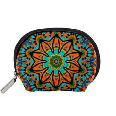 Color Abstract Pattern Structure Accessory Pouches (small)