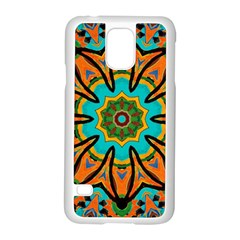 Color Abstract Pattern Structure Samsung Galaxy S5 Case (White)