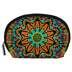 Color Abstract Pattern Structure Accessory Pouches (large)