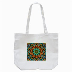 Color Abstract Pattern Structure Tote Bag (white)