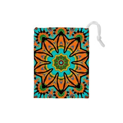 Color Abstract Pattern Structure Drawstring Pouches (small)