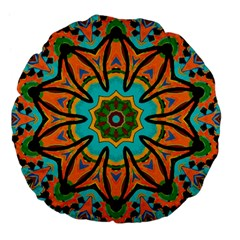 Color Abstract Pattern Structure Large 18  Premium Flano Round Cushions