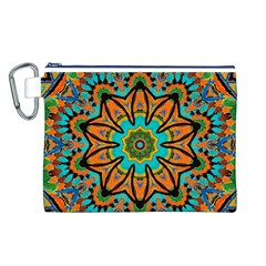 Color Abstract Pattern Structure Canvas Cosmetic Bag (l)
