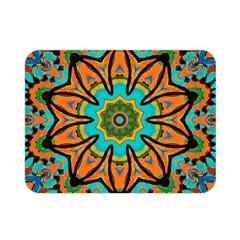 Color Abstract Pattern Structure Double Sided Flano Blanket (mini)