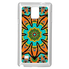Color Abstract Pattern Structure Samsung Galaxy Note 4 Case (White)