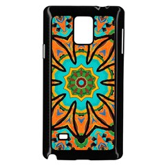 Color Abstract Pattern Structure Samsung Galaxy Note 4 Case (black)