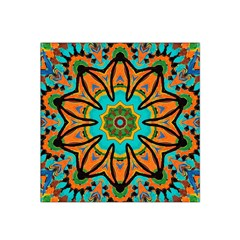 Color Abstract Pattern Structure Satin Bandana Scarf