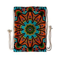 Color Abstract Pattern Structure Drawstring Bag (small)