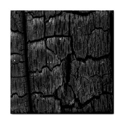 Coal Charred Tree Pore Black Tile Coasters