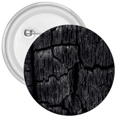 Coal Charred Tree Pore Black 3  Buttons