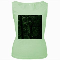 Coal Charred Tree Pore Black Women s Green Tank Top