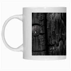 Coal Charred Tree Pore Black White Mugs