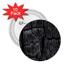 Coal Charred Tree Pore Black 2 25  Buttons (10 Pack)