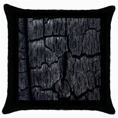 Coal Charred Tree Pore Black Throw Pillow Case (black)